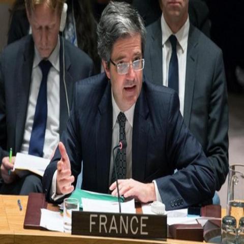 السفير الفرنسي في الامم المتحدة فرنسوا ديلاتر