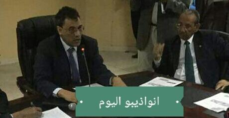 والي ولاية داخلت انواذيبو وحاكم المقاطعة أحمدن ولد سيدي آب