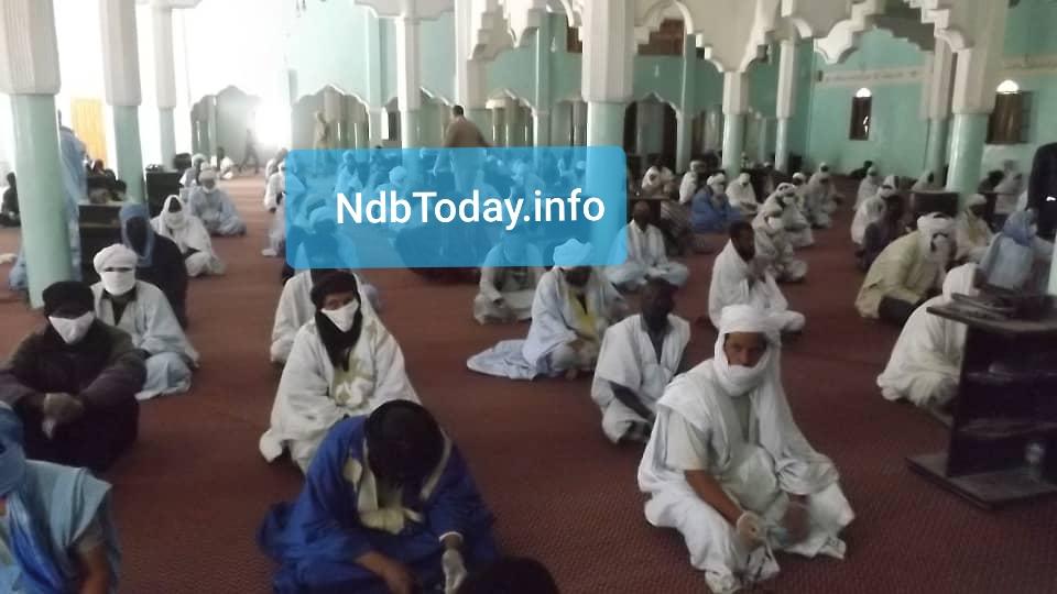 جانب من الحضور داخل مسجد الرضوان