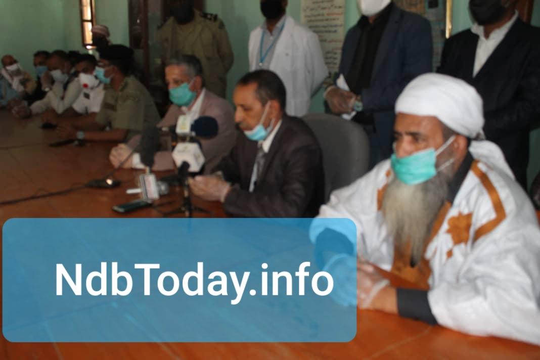 والي الولاية المساعد محمد محمود ولد المصطفى  خلال افتتاحه للنشاط الخيري