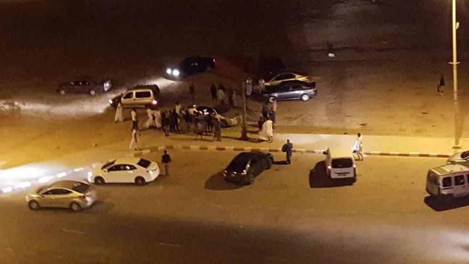 مسرح الواقعة من امام باحة مطار انواذيبو