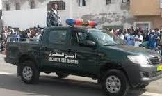 سيارة تابعة لجهاز أمن الطرق