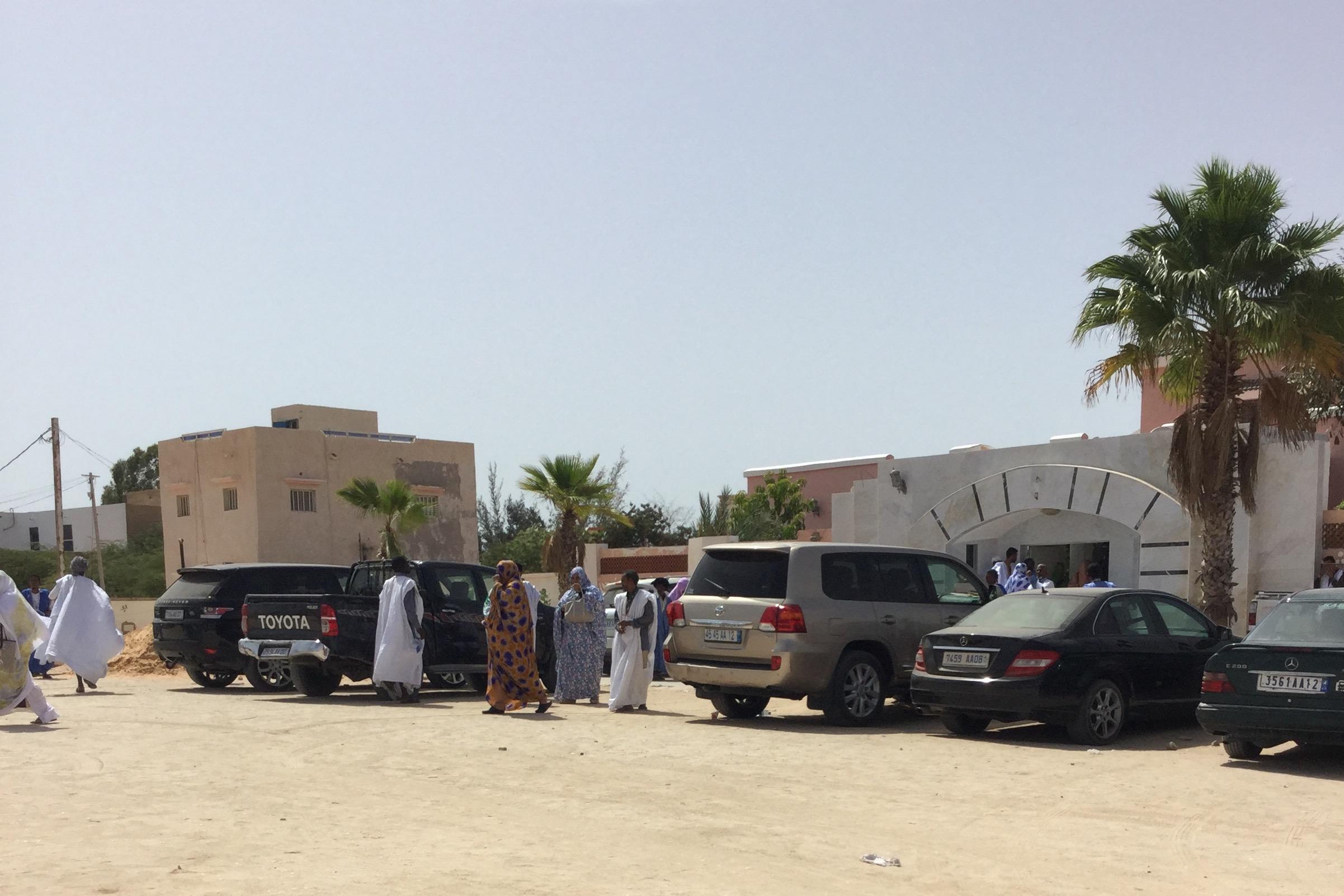 واجهة منزل المرحوم الرئيس السابق اعل ولد محمد فال