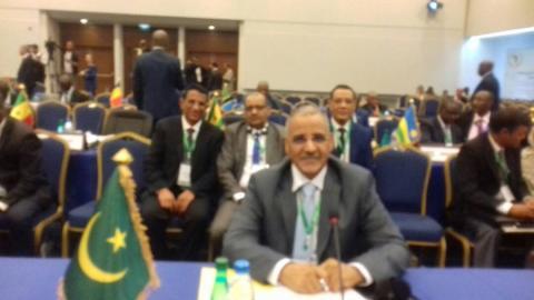 البعثة الأمنية الموريتانية برئاسة المدير العام للأمن الوطني الفريق محمد ولد مكت