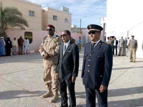 الوالي المساعد والمدير الجهوي لأمن ولاية انواذيبو وقائد المنطقة العسكرية