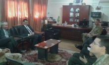 جانب من اجتماع البعثة الدبلوماسية داخل مكتب الوالي